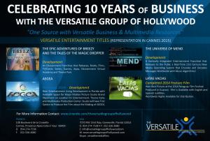 Versatile Entertainment in Cannes